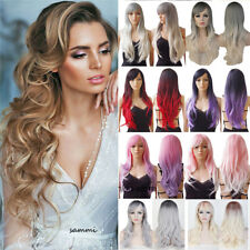 15% Off Cosplay Full Wig Heat Resistant Synthetic Hair Long Wavy Curly Ombre t0