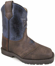 Smoky Mountain Toddlers' Autry Square Toe Two-Tone Brown Oil Distress/Turquoise