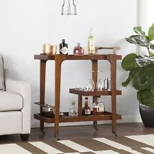 Midcentury Modern Bar Cart Three Tiers Open Shelving For Display
