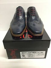 Jeffery West MUSE NAVY LEATHER Lace Up Brogue Shoe RRP £199 BNIB