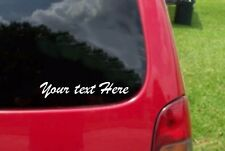 "Custom Vinyl Lettering Decal Sticker . 1/2"" to 2"" tall Die Cut  Any Font"