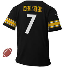 --= NFL =-- Ben Roethlisberger Pittsburgh Steelers #7 Men Black Replica Jersey