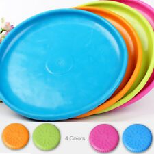 Rubber Round Pet Dog Cat Toy Training Equipment Flying Disc 4 Colors
