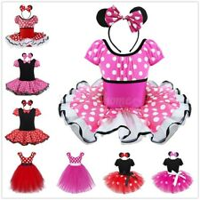 Girl Polka Dots Tutu Princess Fancy Dress Halloween Birthday Party Dress Costume