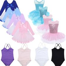 Girl Gymnastics Ballet Dress Kids Leotard Princess Tutu Skirt Dance wear Costume