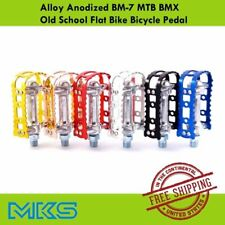 MKS BM7 Alloy Anodized for MTB BMX Old School Flat Bike Pedals Bicycle Cycling