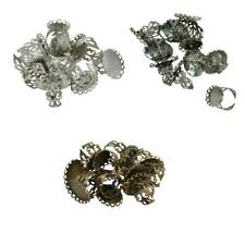 10pcs Filigree Ring Blanks Adjustable Ring Charms Base Blank Jewelry Finding