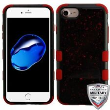 Black and Red Flakes Hybrid Dual Protector Phone Case Cover for Apple iPhone 8/7