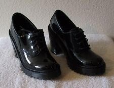 NEW Dr Martens Salome Womens Heeled Oxford Shoes 6 Black Patent Lamper MSRP$135
