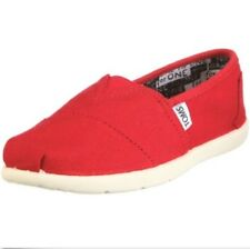 NEW KIDS YOUTH GIRLS BOYS TOMS CLASSICS RED CANVAS ORIGINAL 012001C13