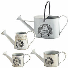 Metal Watering Can Planter Home Sweet Home Shabby Chic Vintage Antique Retro