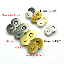 Round Double Rivet Magnetic Snap Closure Fastener Button Purse Clasp Bag Sewing