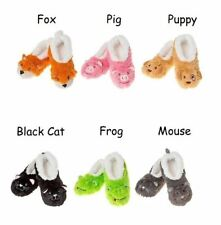 Adult animal snoozies fluffy slippers ballet foot covering