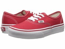 NEW VANS KIDS YOUTH AUTHENTIC RED TRUE WHITE ORIGINAL  VN000WWX6RT