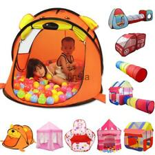 Kids Indoor & Outdoor Folding Play Tent/Tunnel/ House/Castle Ball Pit Pop Up Toy