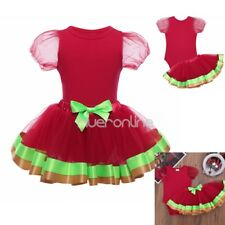 Christmas Newborn Baby Girls Top Skirt Outfit Clothes Romper Dress 12-24 Months