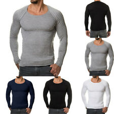 Stylish Men Slim Fit Crew Neck Long Sleeve Muscle Tee T-shirt Casual Tops Blouse