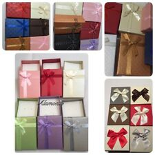 JEWELLERY GIFT BOXES FOR RING EARRINGS BRACELET NECKLACE CHOICE OF COLOURS 7x9x3