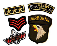 Wholesale Military Biker Navy Iron On Embroidered Patch Applique DIY Accessory