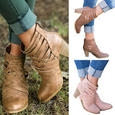 Women High Heel PU Leather Ankle Strap Sandals Summer Gladiator Back Zip Shoes