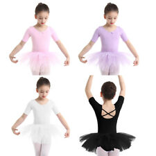 Toddler Kids Girls Ballet Tutu Dress Dancewear Leotard Dots Tulle Dance Skirt