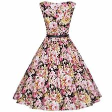 Solid Color New Fashion Stylish Summer Printed Vintage Dress For Women