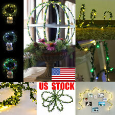US Garland Copper LED Wedding Holiday Fairy String Lights Party Event Decor Lamp
