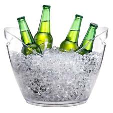 Clear Bowl Bucket Champagne Wine Cooler Bucket Container Ice Holder 4L/8L