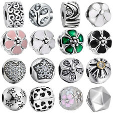 European Silver Charms Snap Joint Beads Pendant Fit 925 Clasp Bracelet Chain