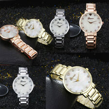 Shell Pearly Stainless Steel Women Lady Quartz Analog Wrist Watches Dress Watch