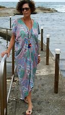 NWT Kaftan Maxi Dress Pretty Batik Paper Fig Plus Size to fit from 18-22