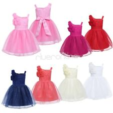 Infant Baby Girls Sleeveless Glitter Tulle Dress Princess Pageant Wedding