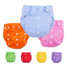 Baby Infant Adjustable Cloth Nappy Cozy Cotton Diaper Cover Washable Reusable