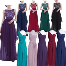 Formal Women Chiffon Long Dress Bridesmaid prom Gown Evening Party Cocktail Lady
