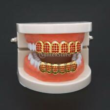 Grills 18K Gold Plated Grills Top Bottom Mouth Grill Teeth Caps Party Prop