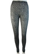 Footless Fleece Lined Tights With London Print