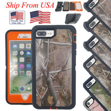 Defender Hybrid Hard Camo Protective Belt Clip Case Cover Skin for iPhone 7 plus
