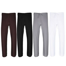 New Men Ice Silky Workout Long Pants Trousers Running Yoga Gym Jogging Underwear