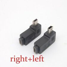 Mini USB Type A male to Micro USB B feMale 90 Degree right/left Angle Adapter SX