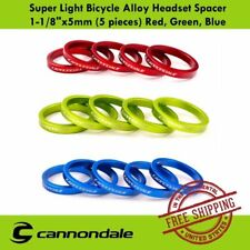 """Cannondale Super Light Bicycle Alloy Headset Spacer 1-1/8""""x5mm (5 pieces)"""
