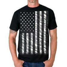 American FLAG T-Shirt Motorcycle Biker USA Patriotic USMC Army Navy USMC Marines