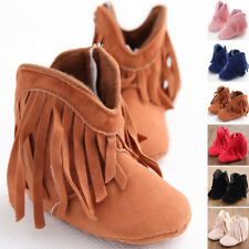 0~18M Infant Newborn Baby Girl Soft Cotton Sole Boots Toddler CASUAL Crib Shoes