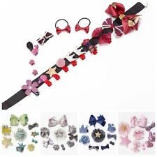 10Pcs/set Bow Baby Girl Hair Clip Flower Barrettes Party Hairpins Headwear Gift