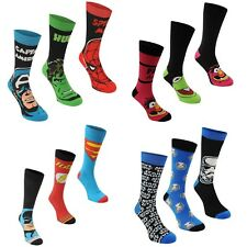 3 pairs Mens Character Socks Crew Novelty TV Film Theme Christmas Stocking Fille