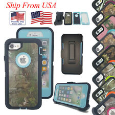 Case Cover For Apple iPhone 7 Plus Camo Case Defender Hybrid Rugged Belt Clip