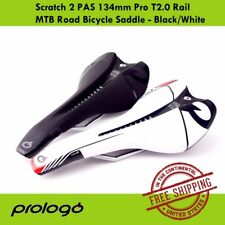 PROLOGO Scratch 2 PAS 134mm Pro T2.0 Rail MTB Road Bicycle Saddle - Black/White