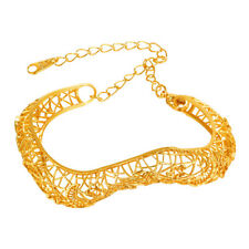 U7 18K Gold Plated Hollow Out Bangle Bracelet Fashion Jewelry Gift for Women