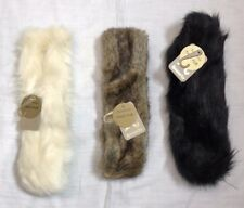 M*nsoon Accessorize Faux Fur Head Band Ear Warmers Lined 3 Colours (a579)