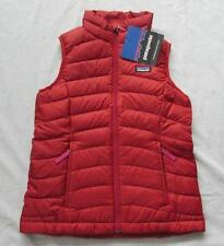 PATAGONIA girls XS brick red down sweater vest puffer solid zip up NEW