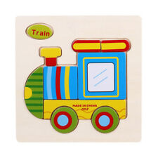 Wooden 3D Puzzle Jigsaw Toys For Children Cartoon Animal Puzzles Educational Toy